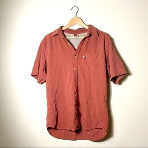 North Face | Pin Striped Short Sleeve Button Down